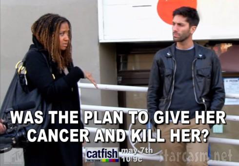 Catfish Season 3 cancer quote Tracie Thoms