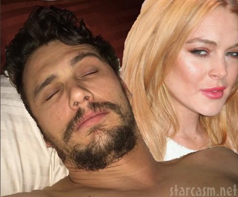 James Franco - Lindsay Lohan Sleeping