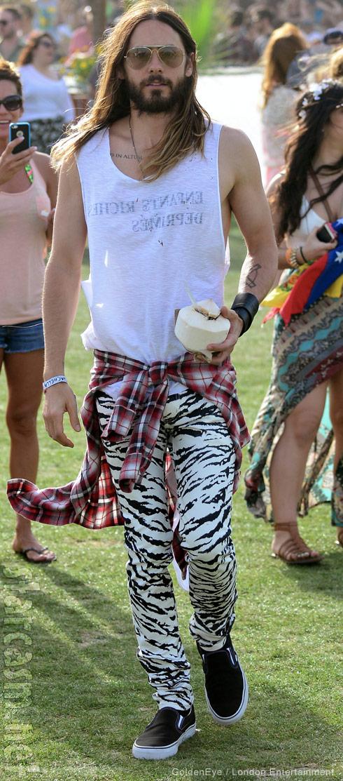 Jared Leto Coachella fashion