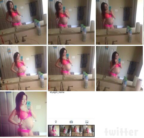 Teen Mom 2 Jenelle Evans_baby bump photos at 29 weeks 2014 second pregnancy
