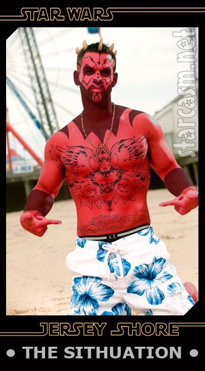 "<em>Jersey Shore</em>'s Mark ""The Situation"" Sorrentino as The Sithuation in Star Wars"