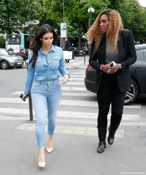 Kim Kardashian Serena Williams