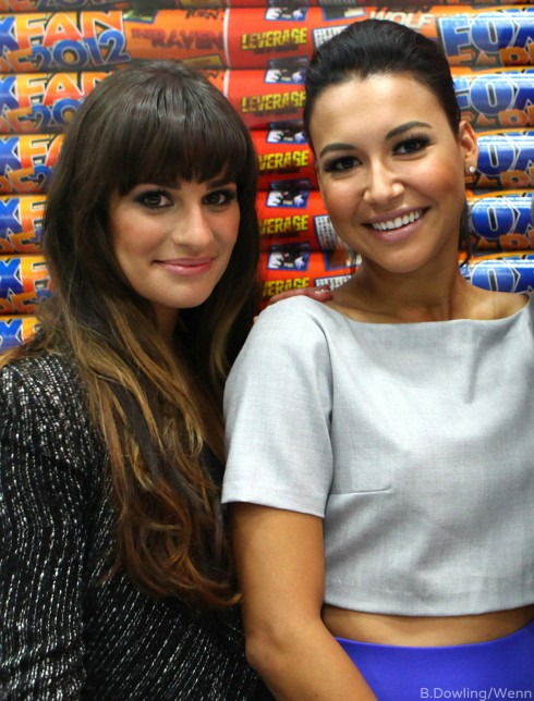 Lea Michele - Naya Rivera Feud Glee