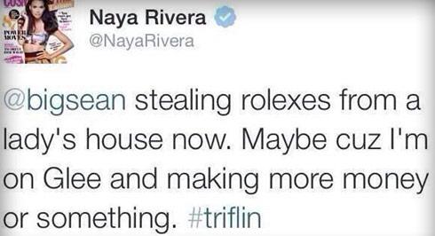 Naya-Rivera-rolex-tweet
