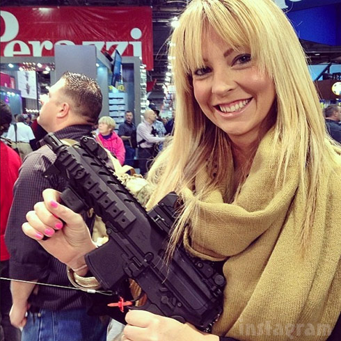 Ryan Vieth's fiancee Sarah Rodriguez with a gun works at California Tactical