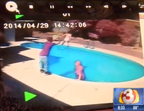 Arizona Dad Corey McCarthey tosses toddler in pool for punishment video