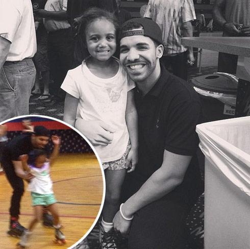 Drake and Bun B's granddaughter Taylor roller skating Graduation Party