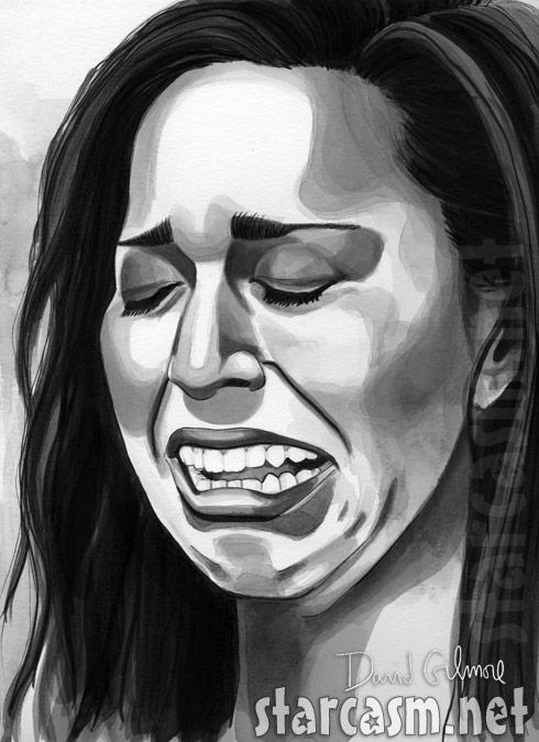 Farrah Abraham cry face drawing