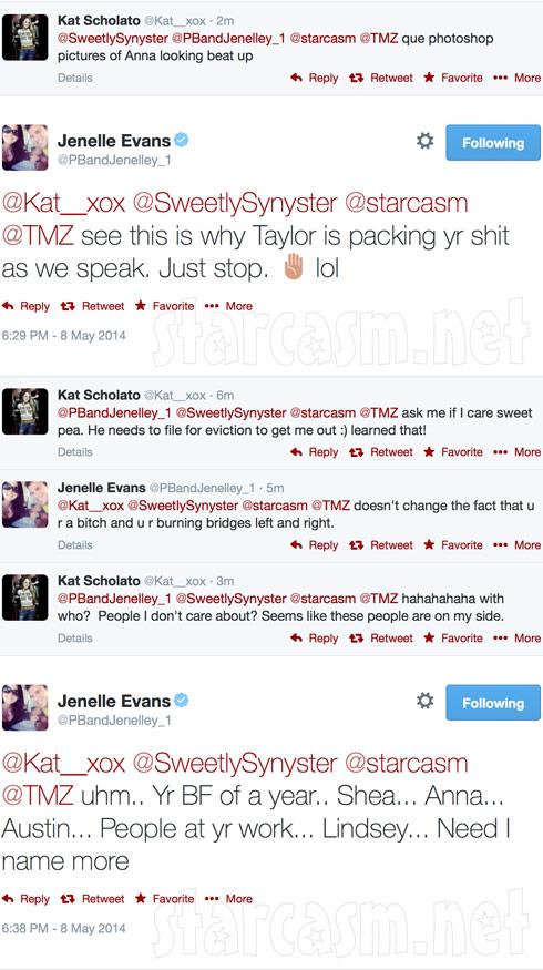 Jenelle Evans Kat Sholato tweets