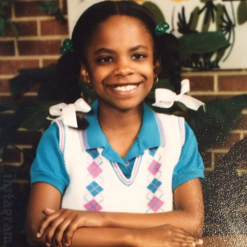 Kandi Burruss throwback third grade class school photo