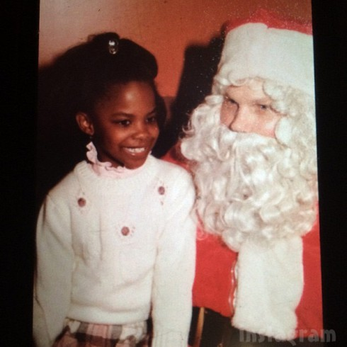 Kandi Burruss throwback Christmas photo with Santa Claus as a child