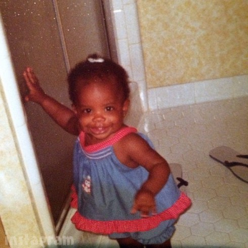 Kandi Burruss toddler throwback photo