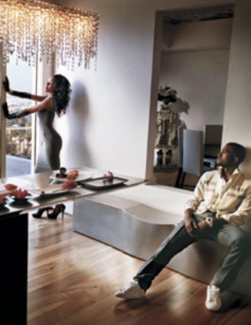 Kanye West - Alexis Phifer - Harper's Bazaar