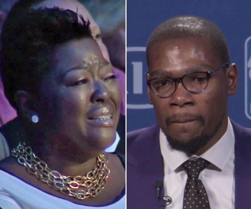 cdbaf683fd1 VIDEO Kevin Durant MVP Speech about mom Wanda Pratt transcript