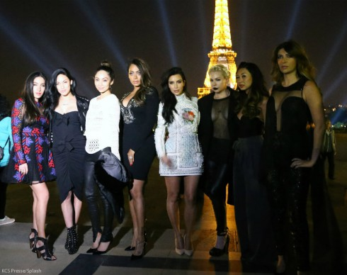 Kim Kardashian Bachelorette Party Eiffel Tower