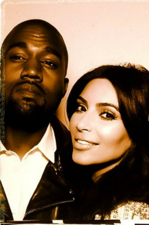 Kim Kardashian and Kanye West Wedding Photo Booth