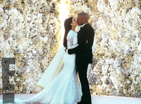 Kimye Wedding - Ceremony Kiss