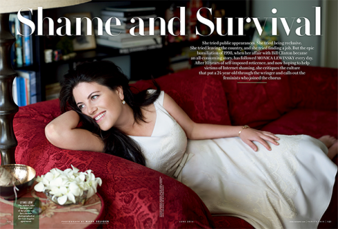 Monica Lewinski Now - Vanity Fair - June 2014
