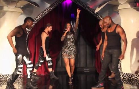 Porsha Williams singing Flatline live in NYC