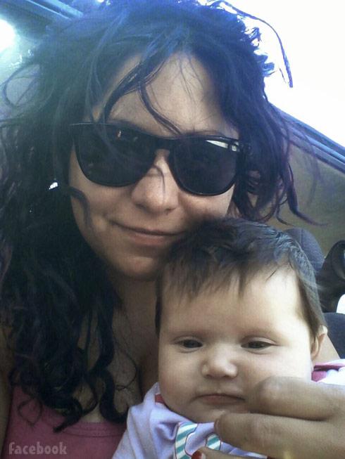 Sabrina High and daughter Oakley shades