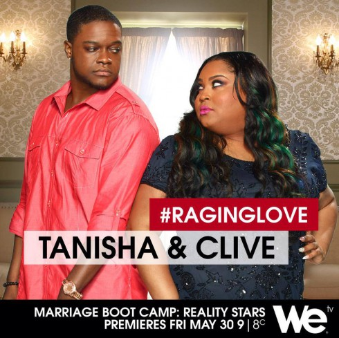 Bad Girls Club Tanisha Thomas and Clive Muir Marriage Boot Camp Reality Stars