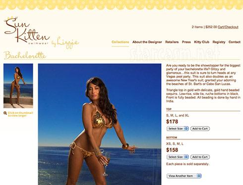 sun kitten swimwear Elizabeth Rovsek model