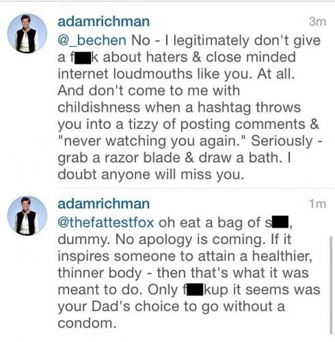 Adam Richman Feud Continued