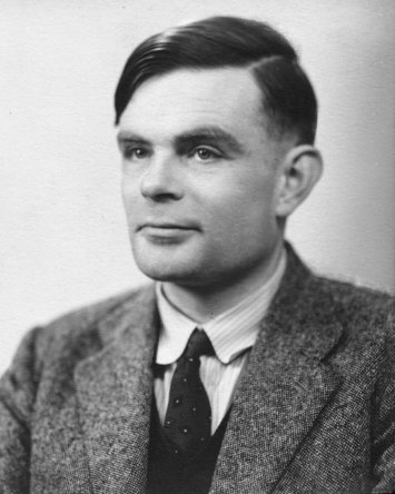 Alan Turing. Not a synthetic likeness.