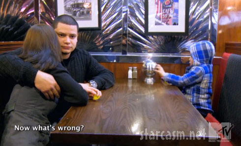 Being Dad Teen Mom Jo Rivera's son Isaac asks Now what's wrong?