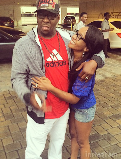 Bobbi Kristina and dad Bobby Brown together fpr Fathers' Day 2014