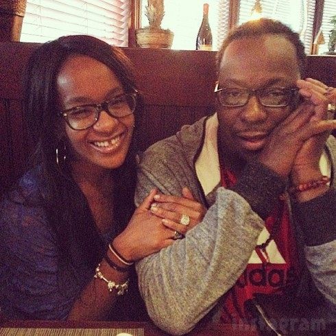 Bobby Brown and daughter Bobbi Kristina together