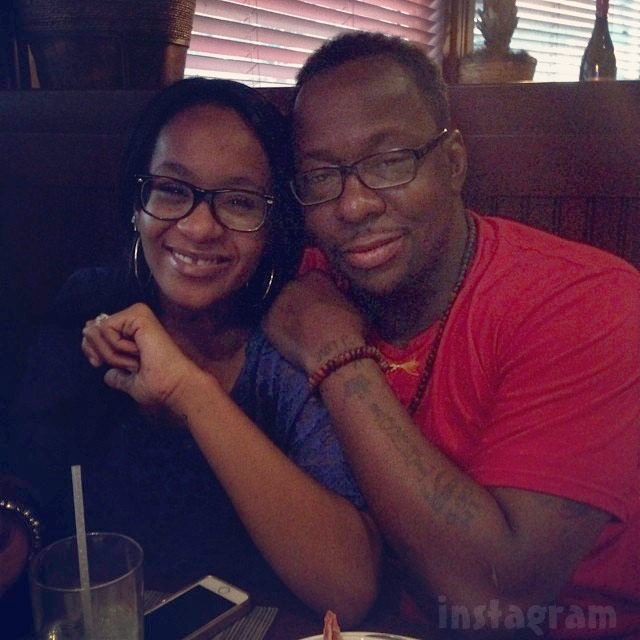 Bobby Brown with daughter Bobbi Kristina for Fathers' Day 2014