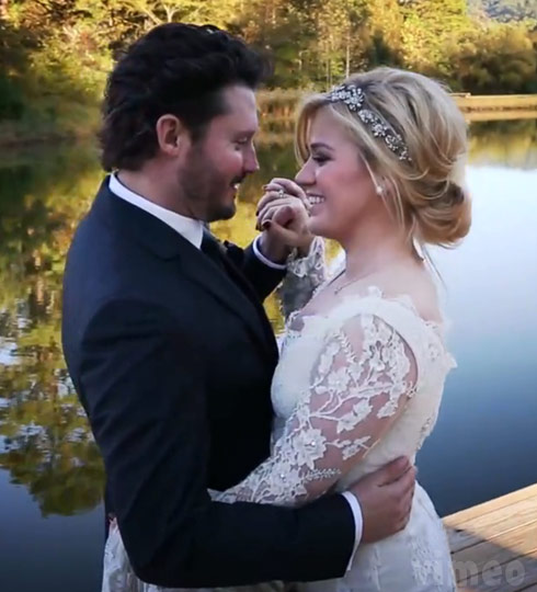 Brandon Blackstock and Kelly Clarkson wedding photo