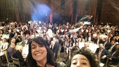Broad City Ilana Glazer Abbi Jacobson Variety Power of Women Luncheon selfie