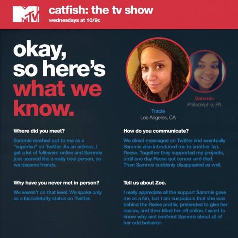 Catfish - Tracie Thoms and Sammie