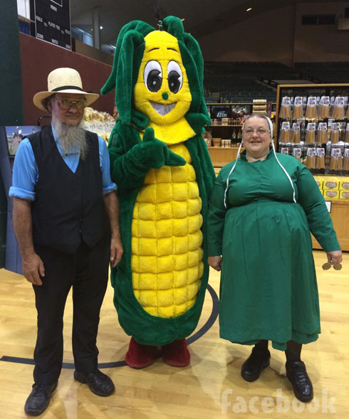 Breaking Amish Return to Amish Chester and Mary Schmucker with corn