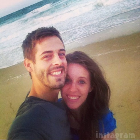 Derick Dillard and  Jill Dillard honeymoon photo beach