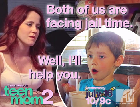 Jenelle Evans and son Jace quotes Evans from Teen Mom 2 Season 5b trailer