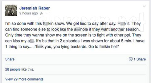 Jeremiah Raber tells Breaking amish producers to go to Hell over editing issues