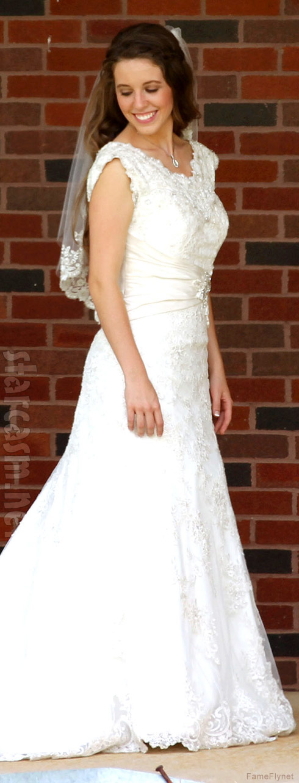 Jill Duggar wedding gown photo