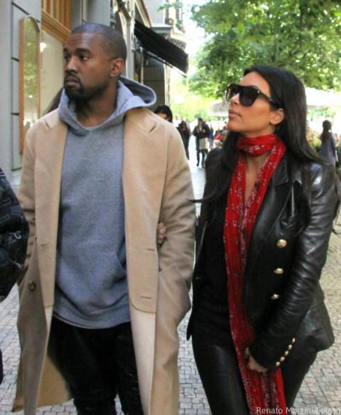 Kanye West and Kim Kardashian Honeymoon in Prague
