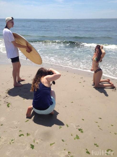 Breaking Amish Kate Stoltz swimsuit photo shoot