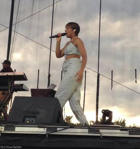 Kelly Rowland Baby Bump Rhythm On The River Festival