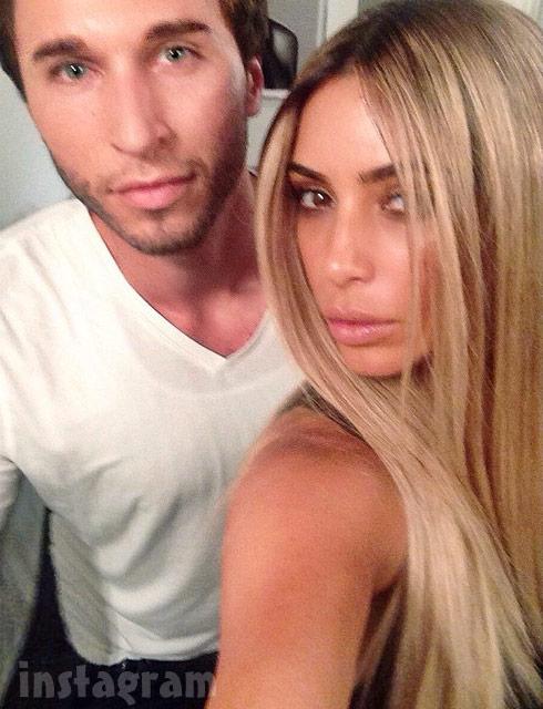 Kim Kardashian with blonde hair again June 2014