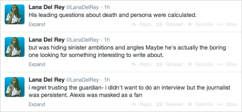 Lana Del Rey Tweets About Guardian