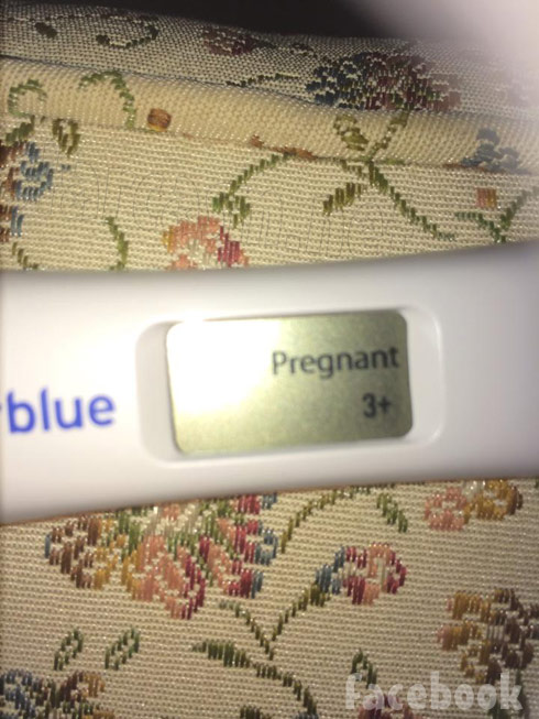 Mellie Stanley pregnancy test