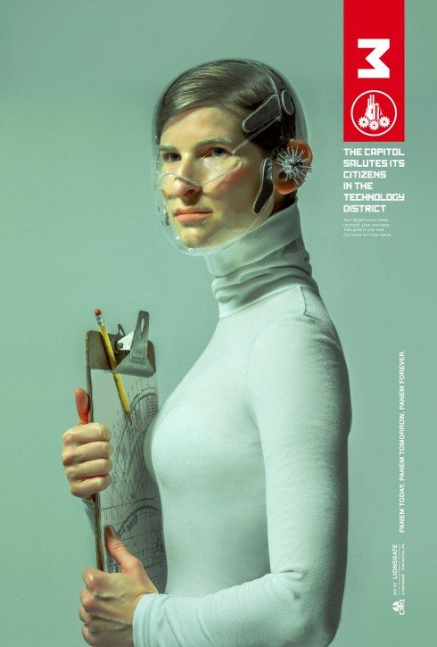 The Hunger Games Mockingjay District 3 character poster