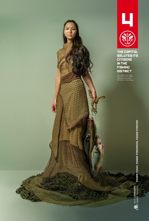 The Hunger Games Mockingjay District 4 character poster The Fishing District