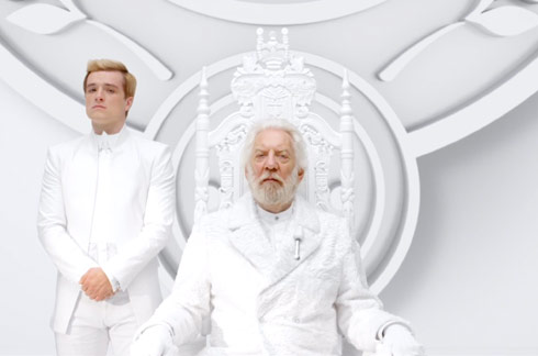 The Hunger Games Mockingjay Peeta Mellark with President Snow