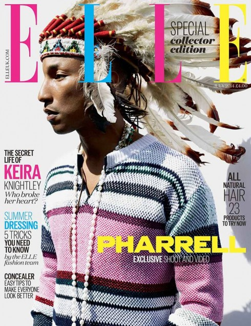 Pharrell - Elle UK July 2014